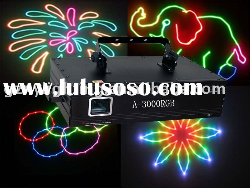A-3000RGB 3W high power full color animation laser lighting