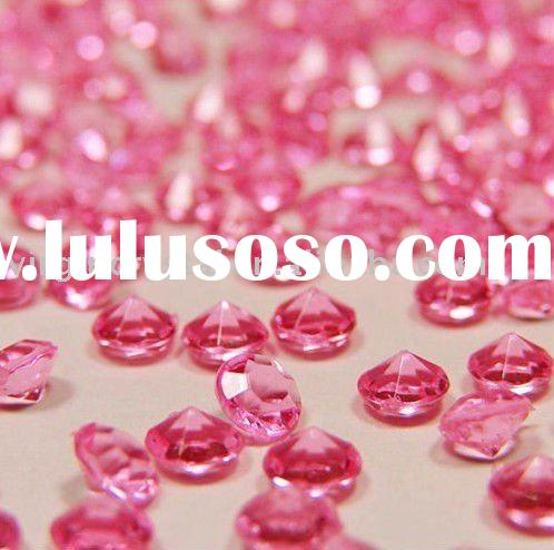 Acrylic Table Decoration Confetti Scatter Diamonds Hot Pink