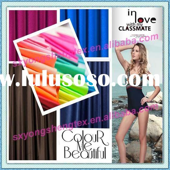 Available Goods Solid Dyed Nylon Spandex Swimwear Fabric Polyamide Lycra Fabric Nylon Spandex Fabric