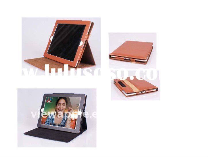 Brown Car headrest Leather Case Cover Pouch for iPad 2
