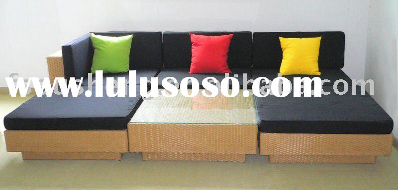 Colourful Rattan home&outdoor sofa bed