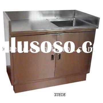 Commercial stainless steel kitchen cabinet with sink for for Stainless steel kitchen cabinet price