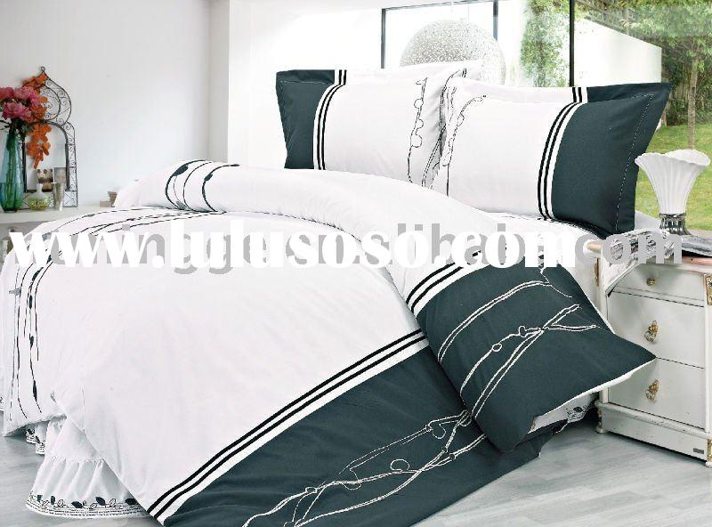 Cotton handmade embroidery bed sheet set with new design