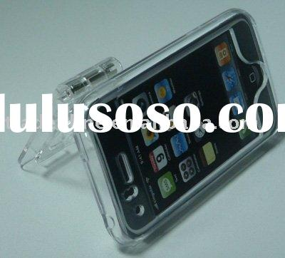 Crystal case with stand for iPhone 3G