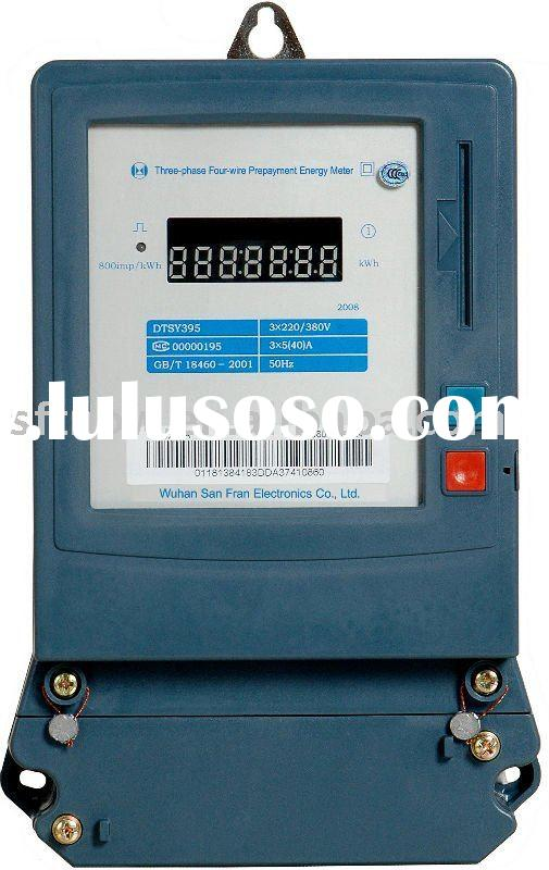 DTS395-3DDA Three-phase Four-wire Prepaid Electric Energy Meter