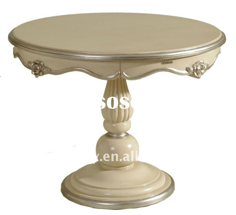 DW502-43 high quality solid wood antique round dining table