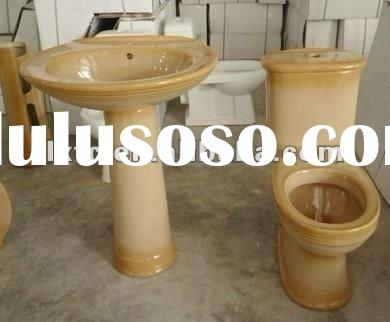 Decal sanitary ware-two piece toilet & Pedestal basin