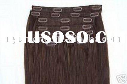 """Deluxe sets 20"""" Human hair clip in extensions 10 pieces Full Head Set"""