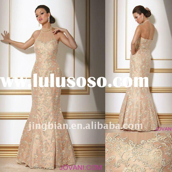 Elegant Halter Gown Latest Dress Designs Formal Lace Dresses evening ED745