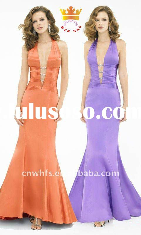 Elegant halter long evening dress