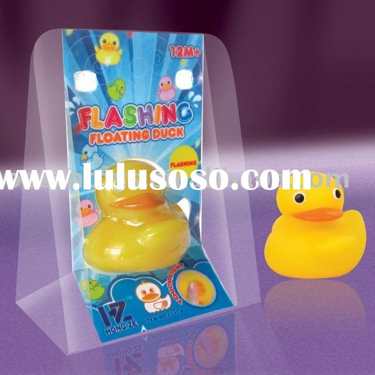 FLASHING FLOATING DUCK, SOFT TOY