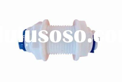 FY013A plastic Bulk head two ways quick connect ro water system fittings