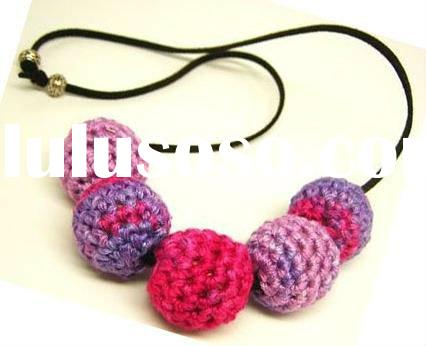 Fashion Hand made Crochet Bead Necklace
