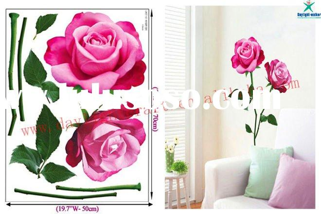 Flower removable vinyl rose wall sticker