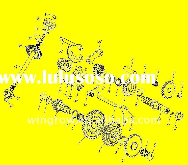 GSmoon 400cc buggy / TRANSMISSION GEARBOX ASSY/parts of atv buggy scooter motorcycle