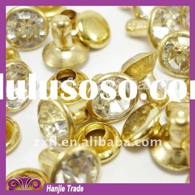Gold Crystal Strass Rhinestone Rivet for Leather Belts