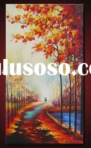 Handmade landscape natural scenery paintings