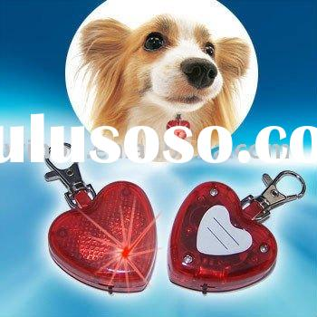 Heart-shaped LED Flashing Safety Light Dog/Pet Tag