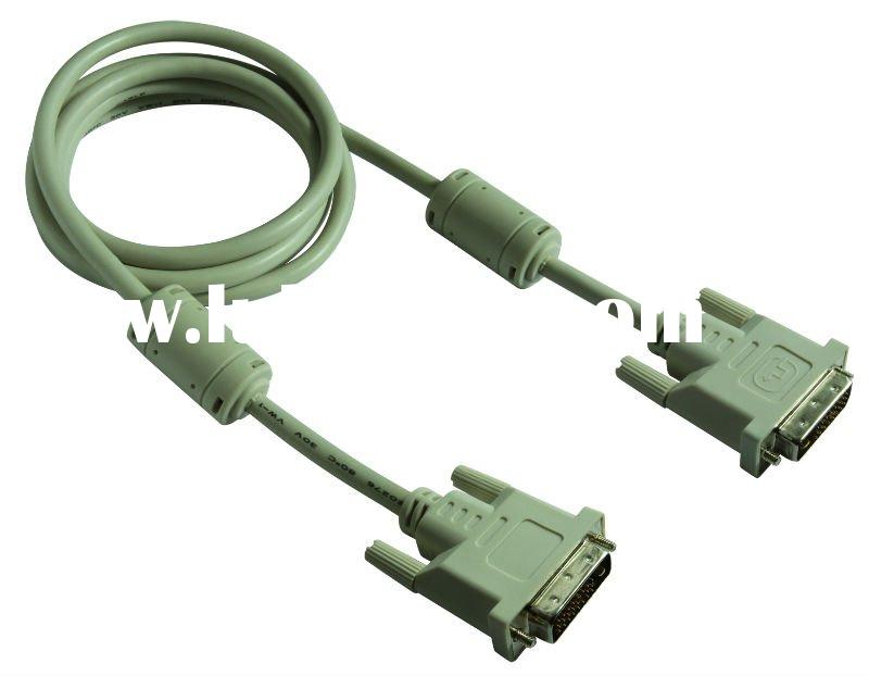 Heavy Gauge DVI Dual Link Cable , Triple Shielded, 24 AWG, Gold Plated Connectors