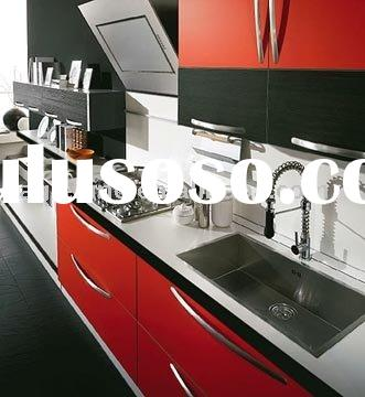 High Gloss Red Modern Commercial Interior Kitchen Cabinets