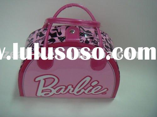 High-end quality world name brand leather suitcase.girls case..