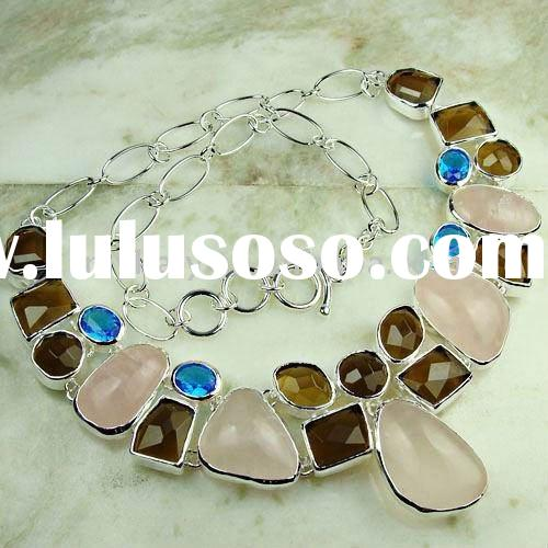 High quality unique natural stone handmade fashion mix it jewelry LN0627