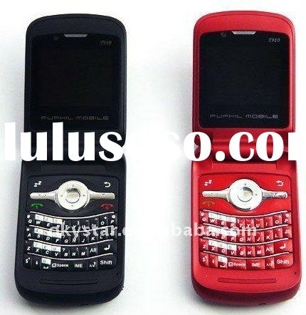 Hot selling qwerty keyboard flip dual sim mobile phone T910