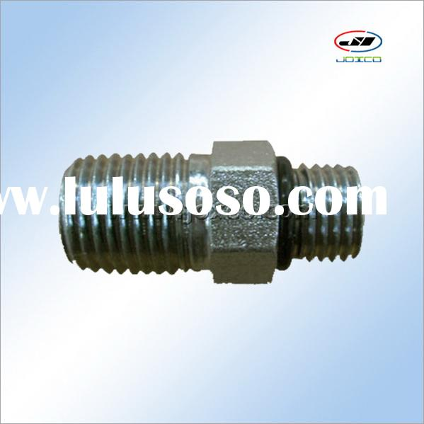 Hydraulic coupling straight thread connector