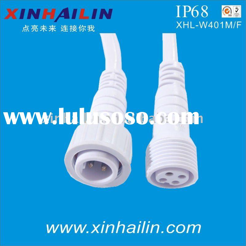 IP68 4 pin male female waterproof power connector plug