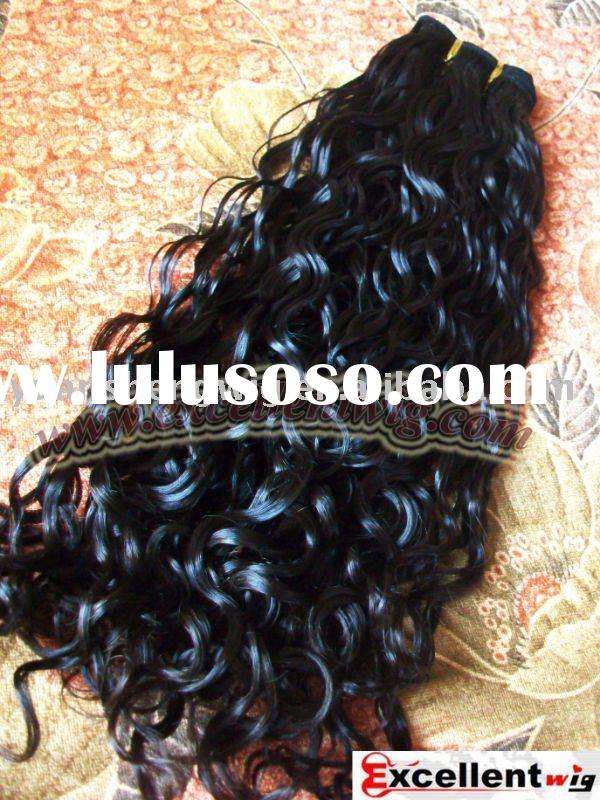 "Indian remy hair natural color Loose curl 20"" Hair weaving"