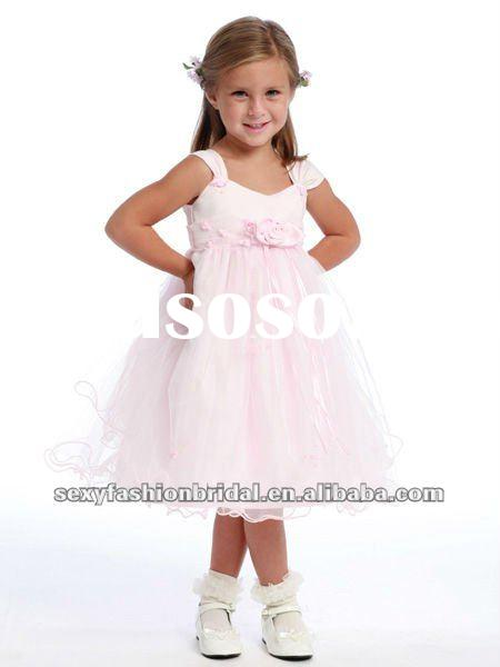 Jewel ruffle A-line skirt medium wedding dress flower girl