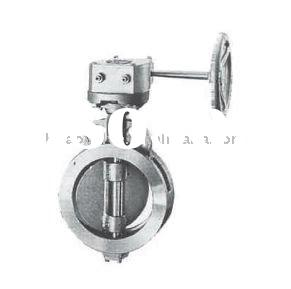 KITZ carbon steel or stainless steel double flanged high-performance butterfly valve
