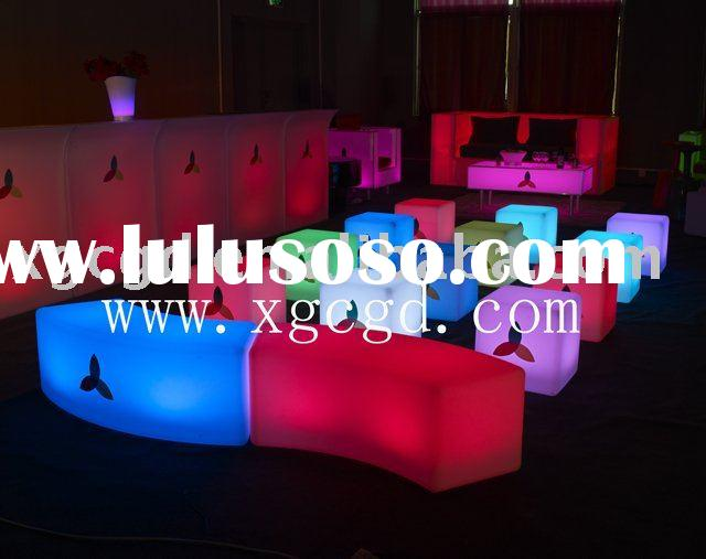 LED bar counter with remote control rechargeable battery