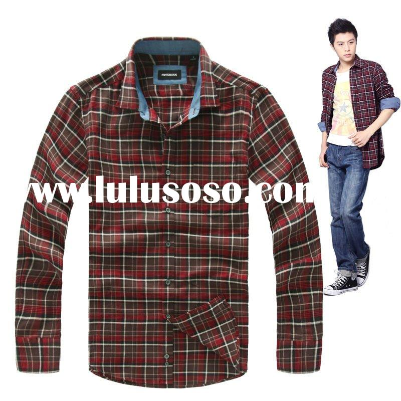 Latest 100% cotton men's stylish pattern business and casual shirts