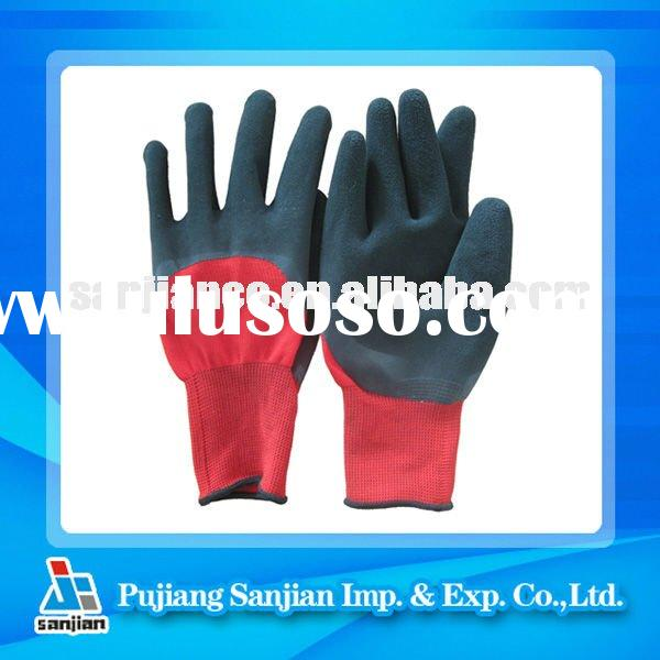 Latex Foam Coated nylon glove Foam finish PU PVC Rubber Safety Glove Working Glove