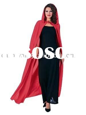 Long Red Hooded Cape halloween costumes(BSWC-0788)