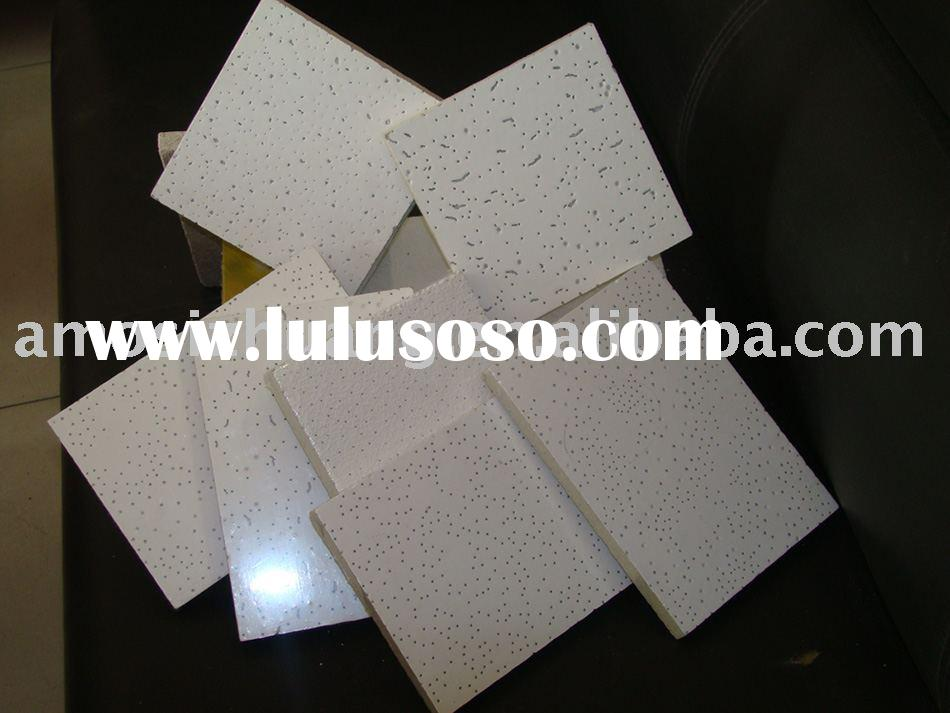 Low density decorative ceiling tiles/Mineral Fiber Ceiling/Mineral wool board/Suspending ceiling