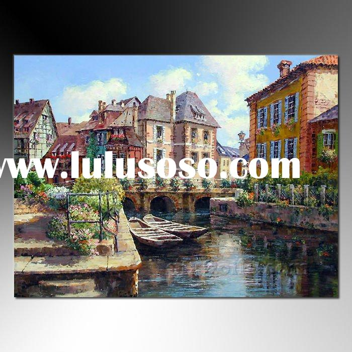 Mediterranean Sea Venice Landscape Seascape Knife Canvas Painting Paint Oil Acrylic Frame Stretcher