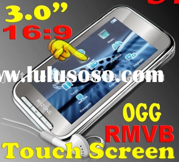 "Mirror 3.0"" 16:9 Touch Screen mp4 RMVB OGG Portable Digital Media Audio player fm radio TFT LCD"
