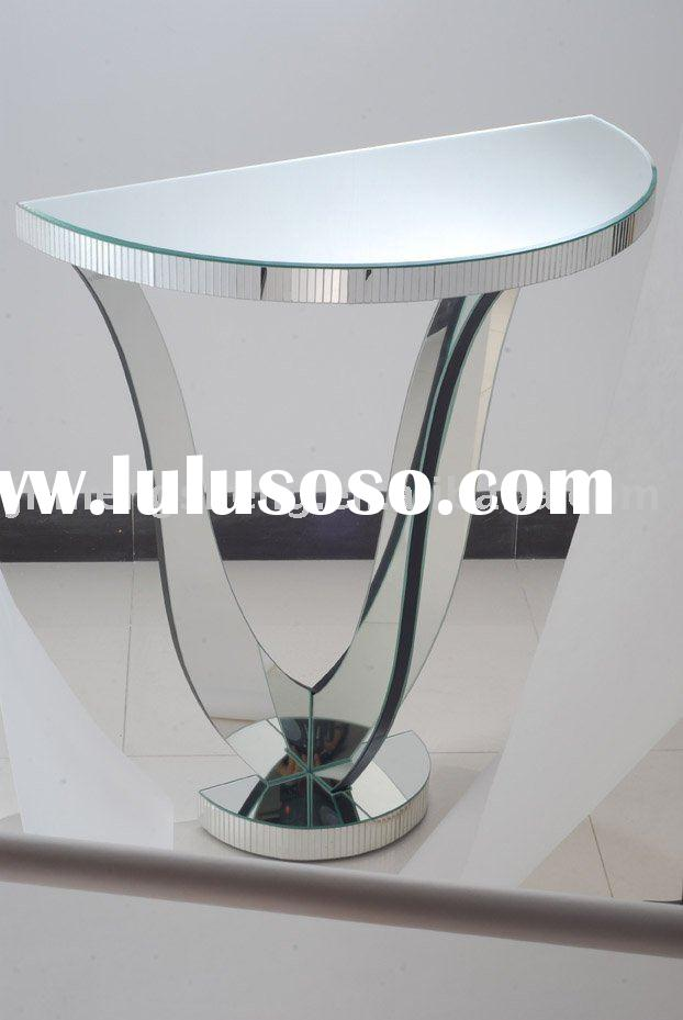 Mirrored Half Moon Console Table Image Collections Design Ideas