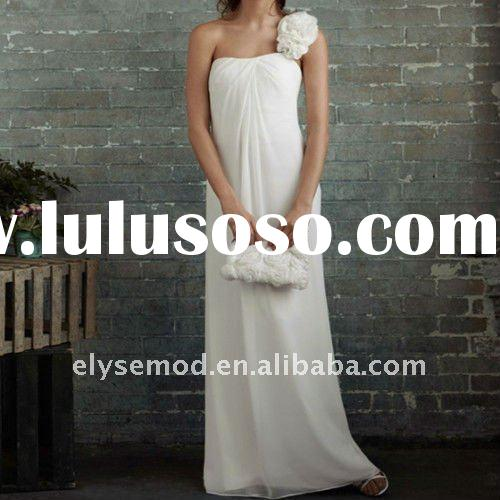 Modern Strapless White Taffeta Applique Open Back Stylish Wedding Dresses
