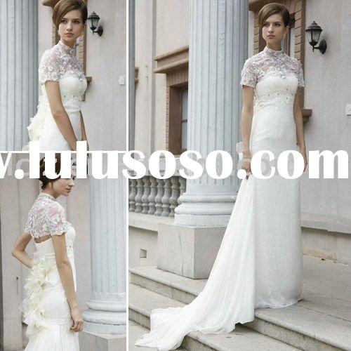 New style White Lace Design bridesmaid dress Hot sell C80501