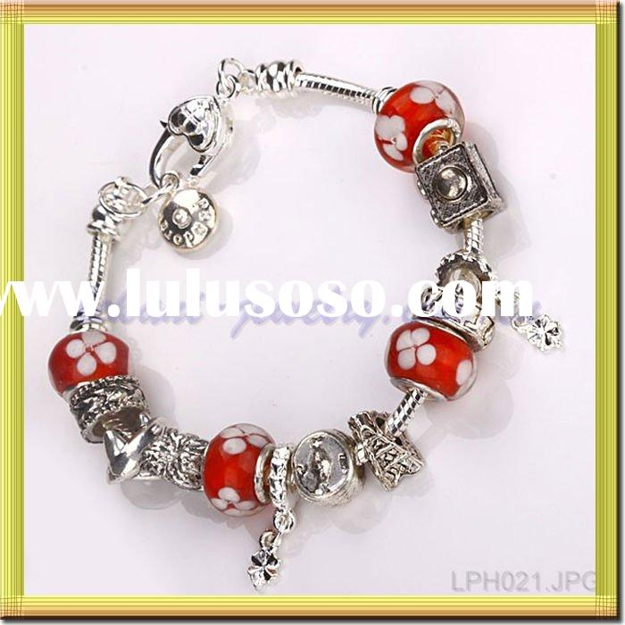 Newest 928 Silver Fashion Jewelry crystal bead imitation bracelets