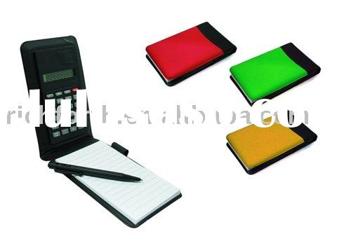 Notepad calculator; notepad set calculator; pocket calculator; promotional calculator; electronic ca