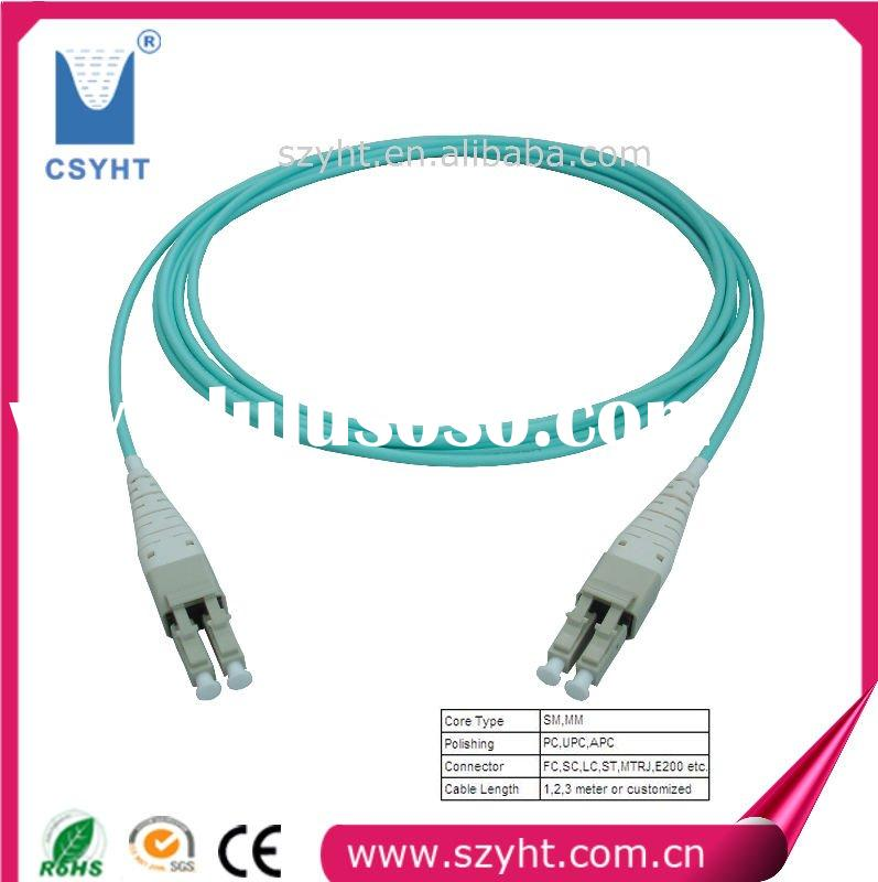 OM 3 connector ,fiber optic patch cord with top quality,services and 3D interferometer for testing