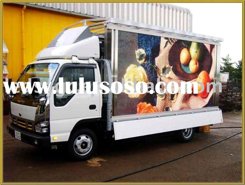 P12 high brightness truck mobile advertising led display