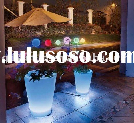 PE decorative lamp rechargeable LED ball light waterproof LED Flowerpot