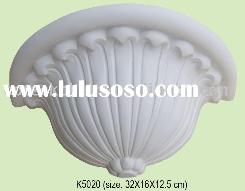 Pu ornamental accents plaster corbels building material for Red top gypsum plaster