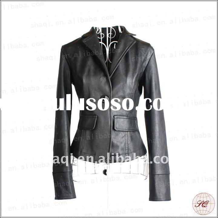 Popular western leather jacket for women