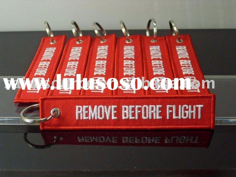 REMOVE BEFORE FLIGHT (front & back) Keyring Keychain Safety tag